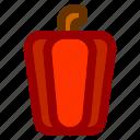 food, fruit, meal, paprika, vegetable, vegie icon