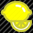 food, fruit, lemon, meal, vegie icon