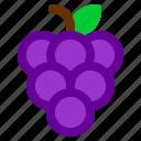 food, fruit, grape, meal, vegie
