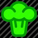 broccoli, food, fruit, meal, vegetable, vegie icon