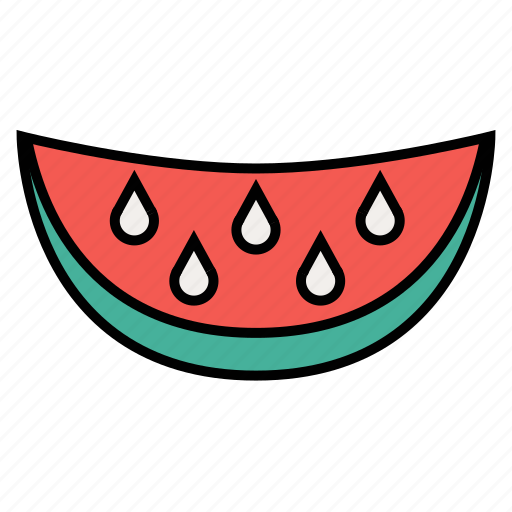 eating, food, fresh, fruit, summer, tasty, watermelon icon