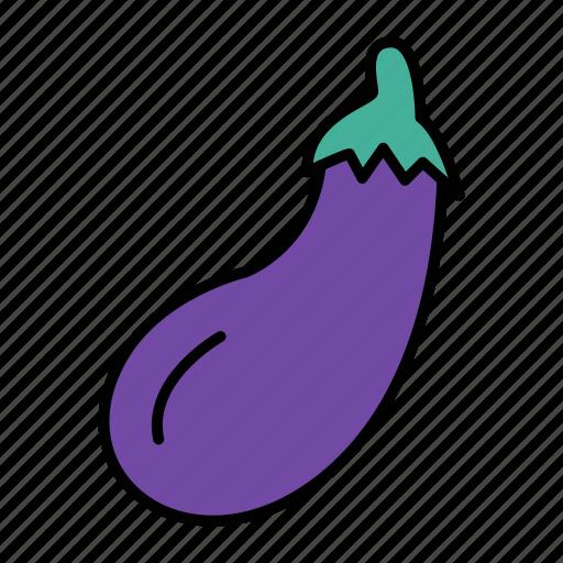 aubergine, brinjal, diet, eggplant, vegetable icon
