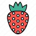 fruit, healthy, strawberry icon