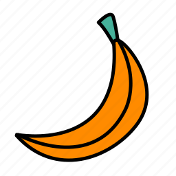 banana, food, fruit, tropical icon