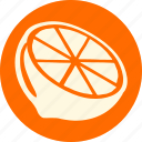 fruit, fruits, gastronomy, lemon, orange, veg, vegetable icon