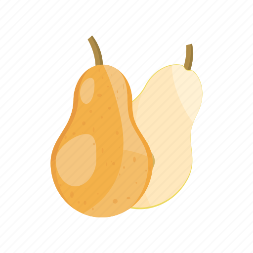 cartoon, fresh, fruit, juicy, organic, pear, ripe icon