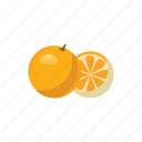 cartoon, fresh, fruit, juicy, mandarin, orange, tangerine icon
