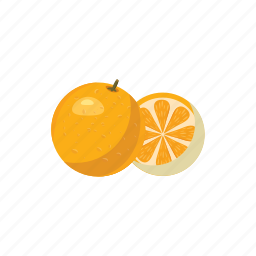 cartoon, fresh, fruit, juicy, mandarin, orange, tangerine icon