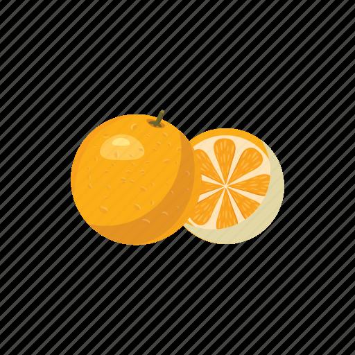 Cartoon, fresh, fruit, juicy, mandarin, orange, tangerine icon - Download on Iconfinder