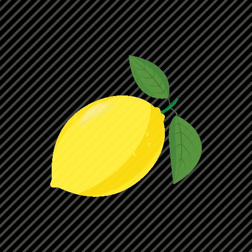 Cartoon, citrus, food, fruit, leaf, lemon, yellow icon - Download on Iconfinder