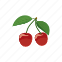 cartoon, cherry, food, fruit, juicy, nature, sweet icon