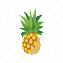 cartoon, fresh, fruit, juicy, nature, pineapple, ripe icon