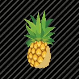 cartoon, fresh, fruit, juicy, nature, pineapple, ripe icon