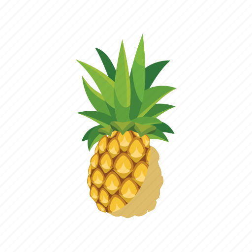 Cartoon, fresh, fruit, juicy, nature, pineapple, ripe icon - Download on Iconfinder