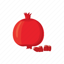cartoon, fruit, garnet, health, juice, pomegranate, seed icon