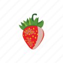 berry, cartoon, fresh, freshness, ripe, strawberry, sweet icon