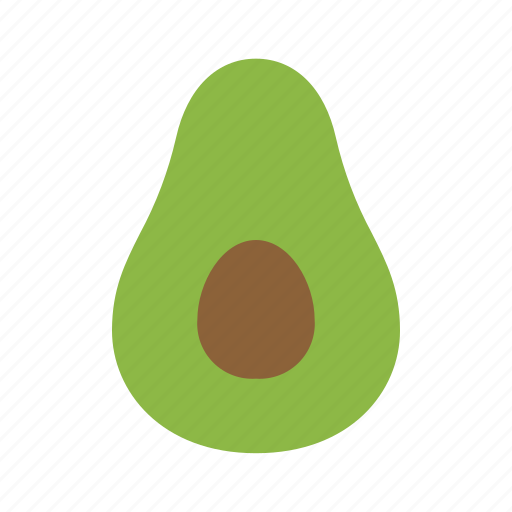 avocado, fruit, organic icon