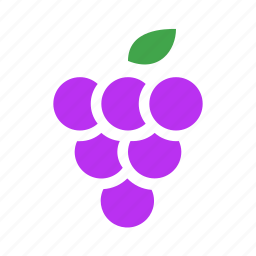 fresh, fruit, grape icon