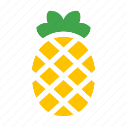 fruit, pineapple, tropical icon