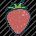 fruit, fruits, strawberry, sweet, vitamin icon