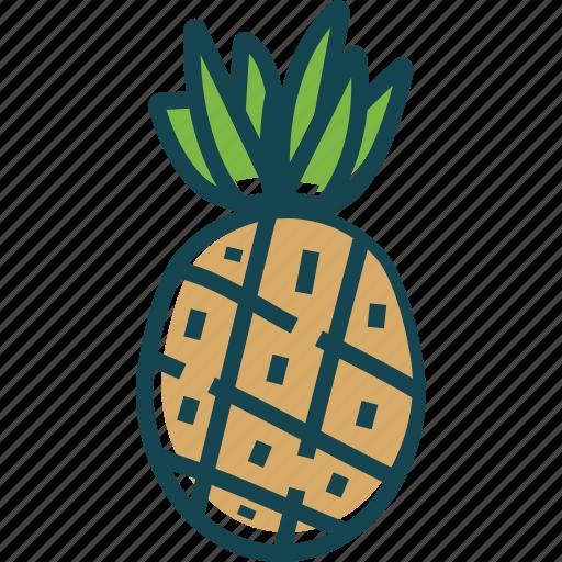 fruit, fruits, healthly, pineapple, sweet icon