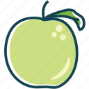 apple, fruit, fruits, green, healtly, vitamin icon