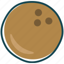 coconut, fruit, fruits, healthly, tropic icon