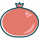 fruit, fruits, healthly, pomegranade, red fruit, vitamins icon