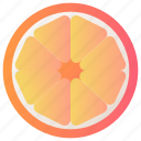 food, fruit, healthy, orange, slice icon