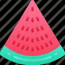 eating, food, fruit, health, slice, watermelon