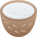 coconut, eating, food, fruit, health icon