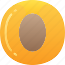 apricot, eating, food, fruit, health icon