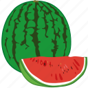 flavor, fruit, juice, slice of watermelon, watermelon icon