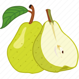 flavor, fruit, juice, pear, pears icon