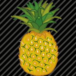 fruit, fruits, juice, pineapple, pineapple juice, sweet icon