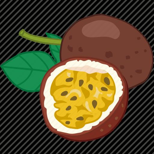 flavor, fruit, passiflora edulis, passionfruit icon