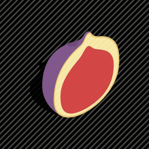 fig, food, fresh, fruit, isometric, ripe, sweet icon