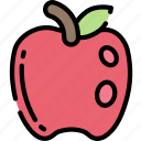 apple, eating, food, fruit, health icon