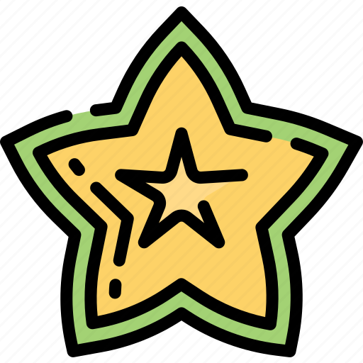 Eating, food, fruit, health, star icon - Download on Iconfinder