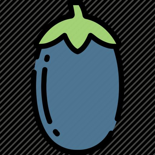 Aubergine, eating, food, fruit, health icon - Download on Iconfinder