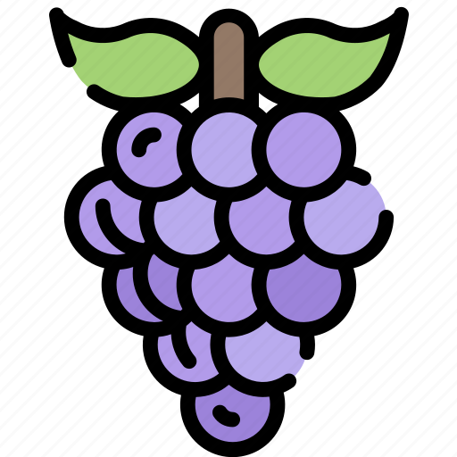 eating, food, fruit, grapes, health icon