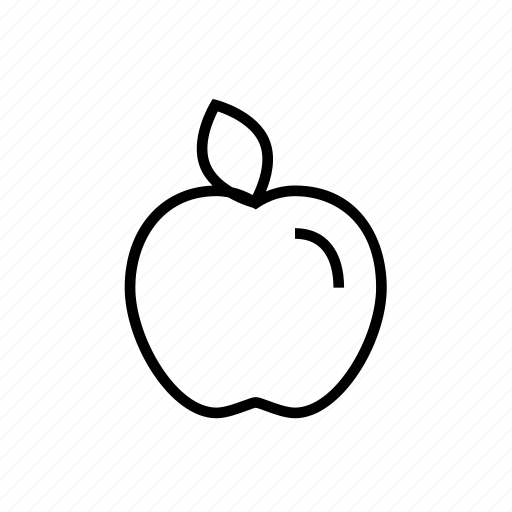 apple, food, fresh fruit, fruit, healthy icon