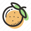 food, health, juice, orange, tasty, tree, tropical icon