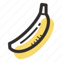banana, food, healthy, plantation, tasty, tropical icon