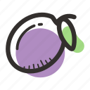 avenue, food, healthy, juice, plum, sweet, tree icon