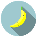 banana, delicious, fruit, fruta icon