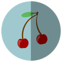 beautiful, cherry, delicate, delicious, drink, fruit, fruta, summer, sweet icon
