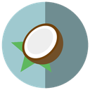 coconut, delicious, fresh, fruit, fruta, heat, summer, sweet, water icon