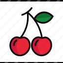 cherry, dessert, food, fruit, summer, sweet, vegetable