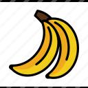 banana, dessert, food, fruits, healthy, summer, tropical